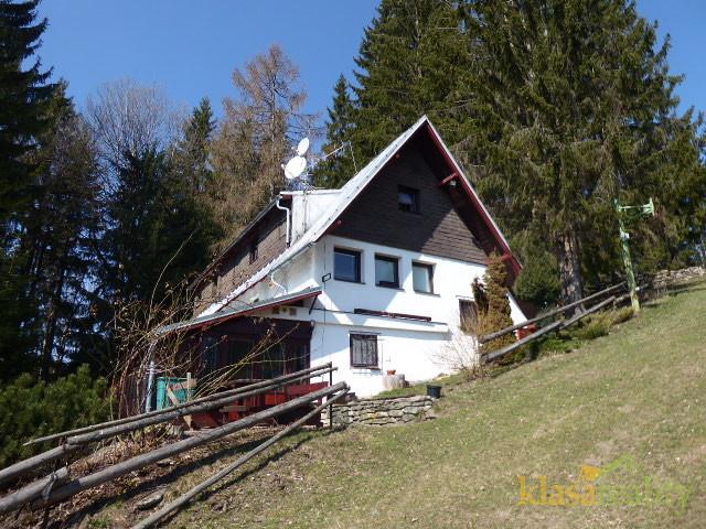 Rodinný dům, bývalý penzion Bernardýn, klidné místo na polosamotě u běžeckých tratí a nedalekých skiareálů Strážné, Herlíkovice, Vrchlabí.
